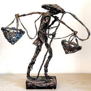 Vintage Signed Paco Valle Brutalist Sculpture